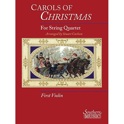 Hal Leonard Carols Of Christmas For String Quartet, Violin 1 Book Southern Music Series thumbnail