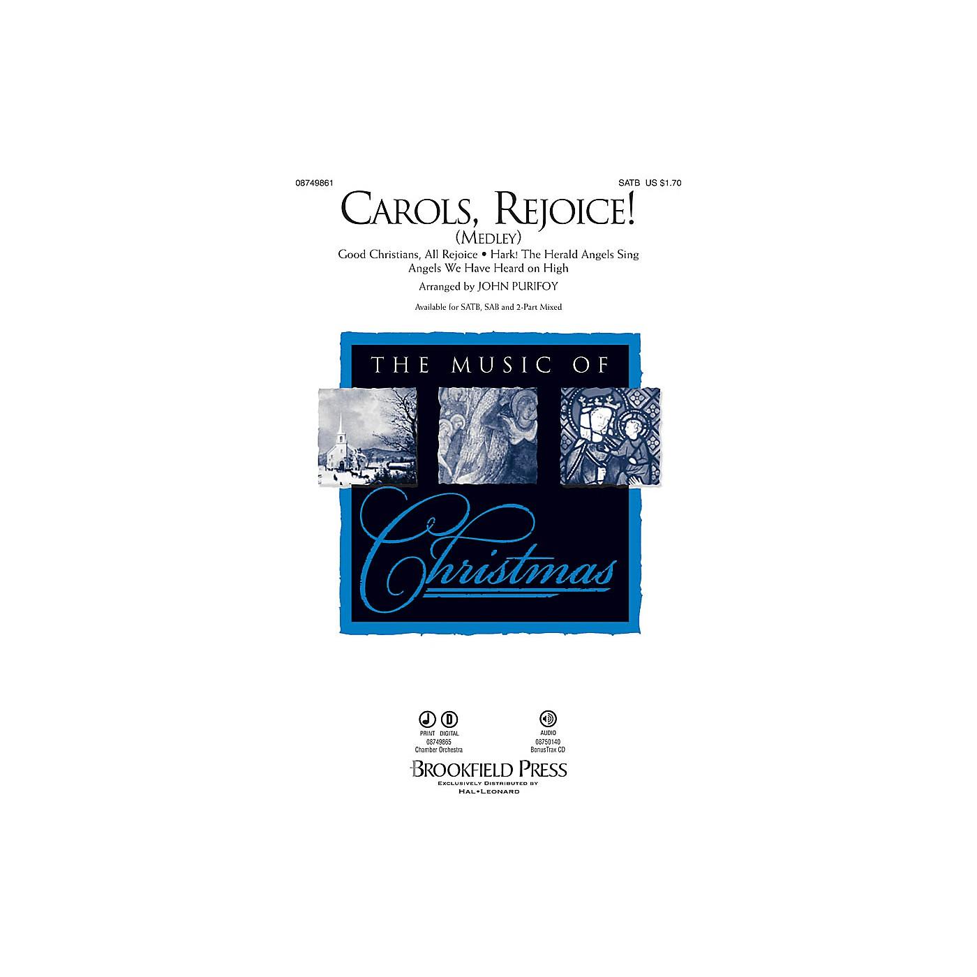 Brookfield Carols, Rejoice! (Medley) SATB arranged by John Purifoy thumbnail