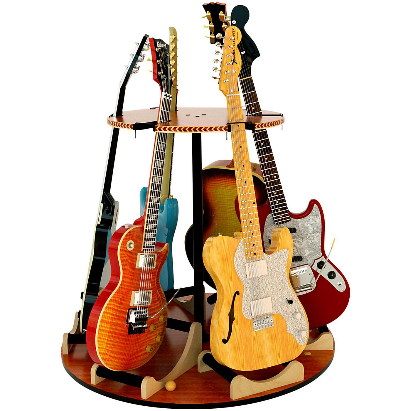 A&S Crafted Products Carousel Deluxe Multi-Guitar Stand thumbnail