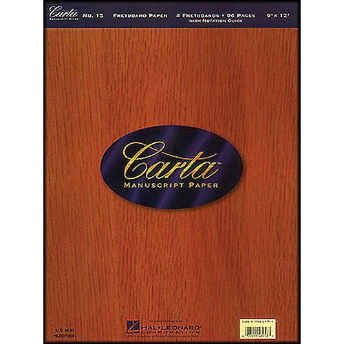 Hal Leonard Carta 15 Scorepad 9X12, Fretboard Paper 96 Pg, 4 Diagrams/Page Manuscript thumbnail