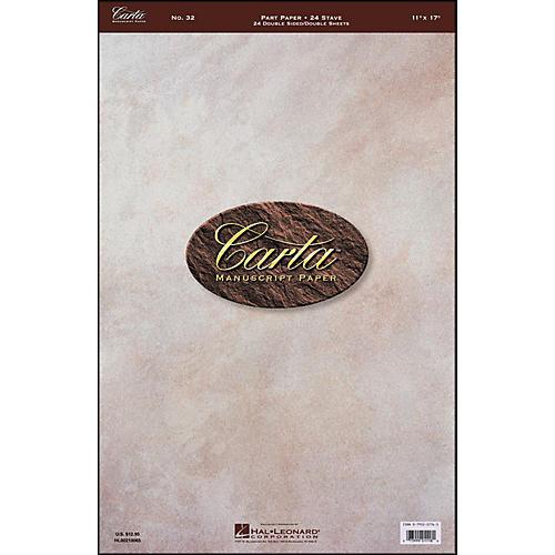 Hal Leonard Carta 32 Partpaper 11X17, Dbl Sheet Dblside, 24 Sheet, 24 Stave, Carta Manuscript thumbnail