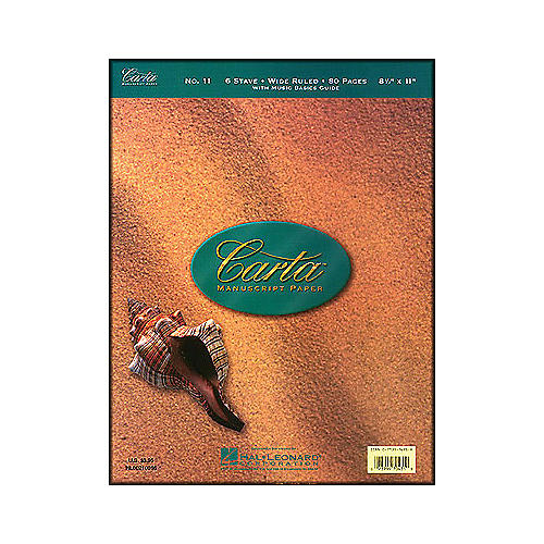 Hal Leonard Carta Manuscript 11 Writing Pad 8.5 X 11, 80 Pages, 6 Staves thumbnail