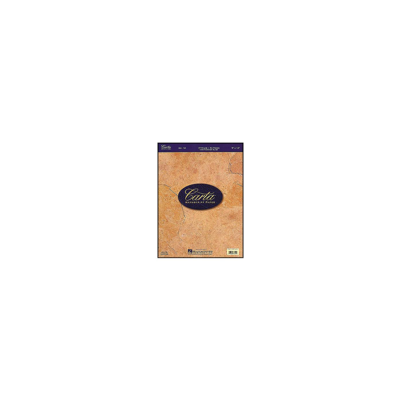 Hal Leonard Carta Manuscript Paper # 12 - Writing Pad, 9 X 12, 80 Pages, 10 Stave thumbnail
