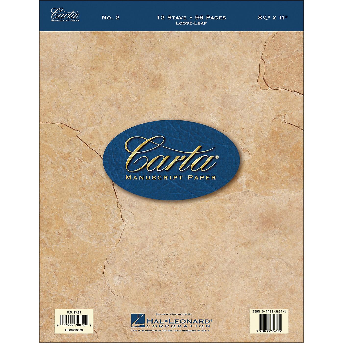 Hal Leonard Carta Manuscript Paper # 2 - Looseleaf, 8.5 X 11, 96 Pages, 12 Stave thumbnail