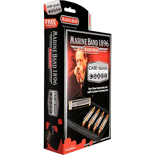 Hohner Case of Marine Bands Harmonica 5-Pack thumbnail