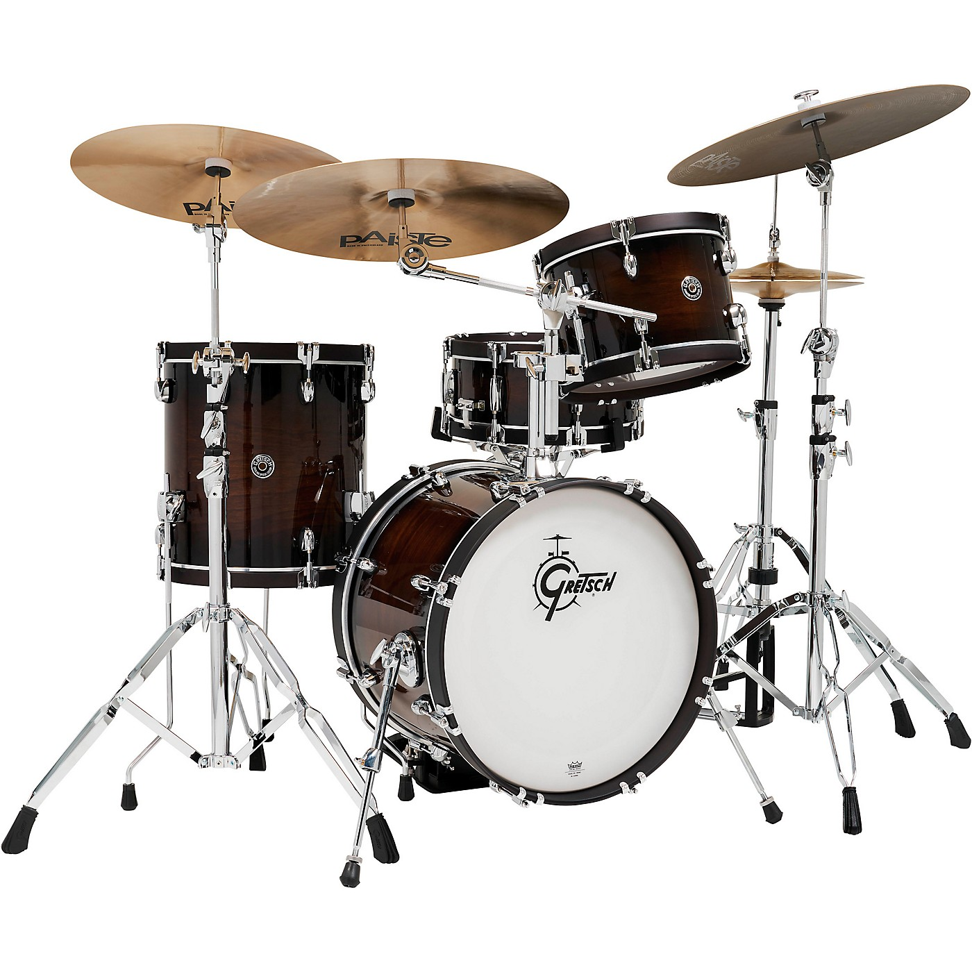 Gretsch Drums Catalina Special Edition Walnut/Maple 4-Piece Shell Pack with Wood Hoops and 18 in. Bass Drum thumbnail
