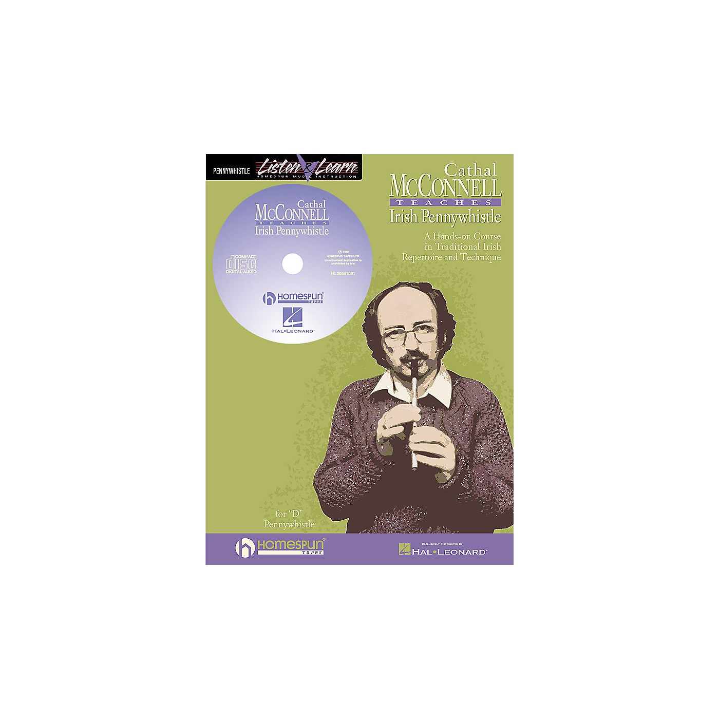 Hal Leonard Cathal Mcconnell Teaches Pennywhistle Homespun Tapes Series Softcover with CD by Cathal McConnell thumbnail