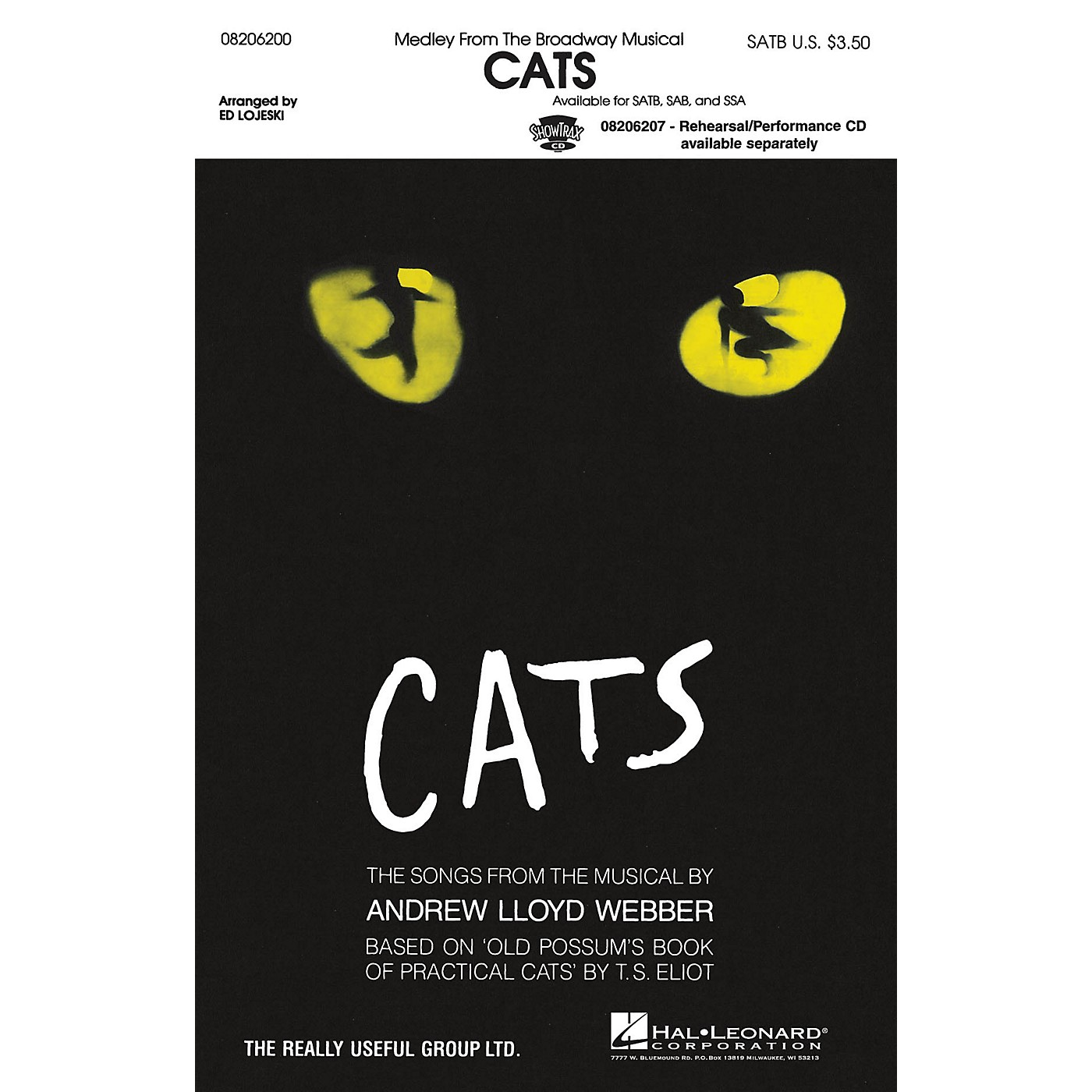 Hal Leonard Cats (Medley) ShowTrax CD Arranged by Ed Lojeski thumbnail