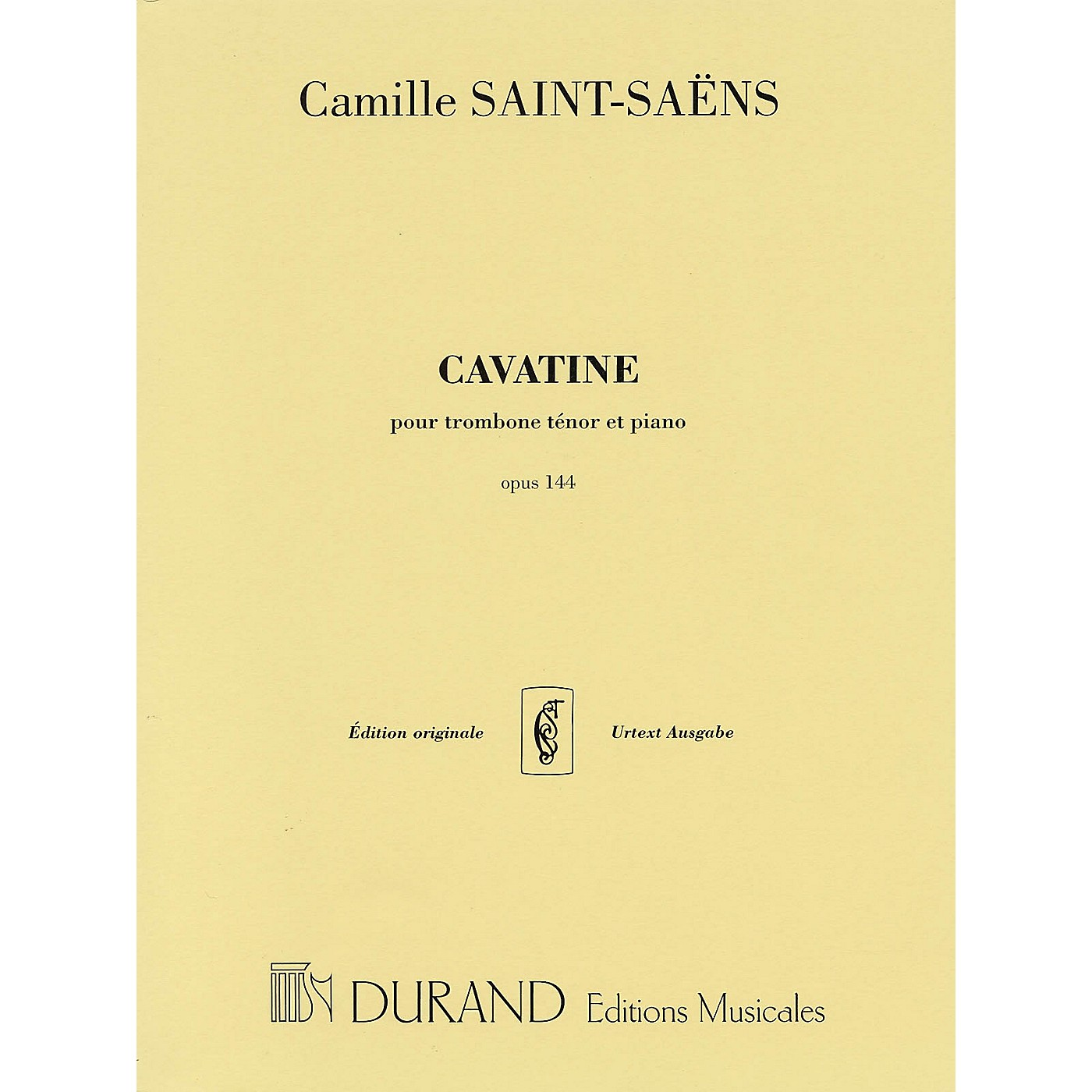 Editions Durand Cavatine, Op. 144 (for Trombone and Piano) Editions Durand Series thumbnail