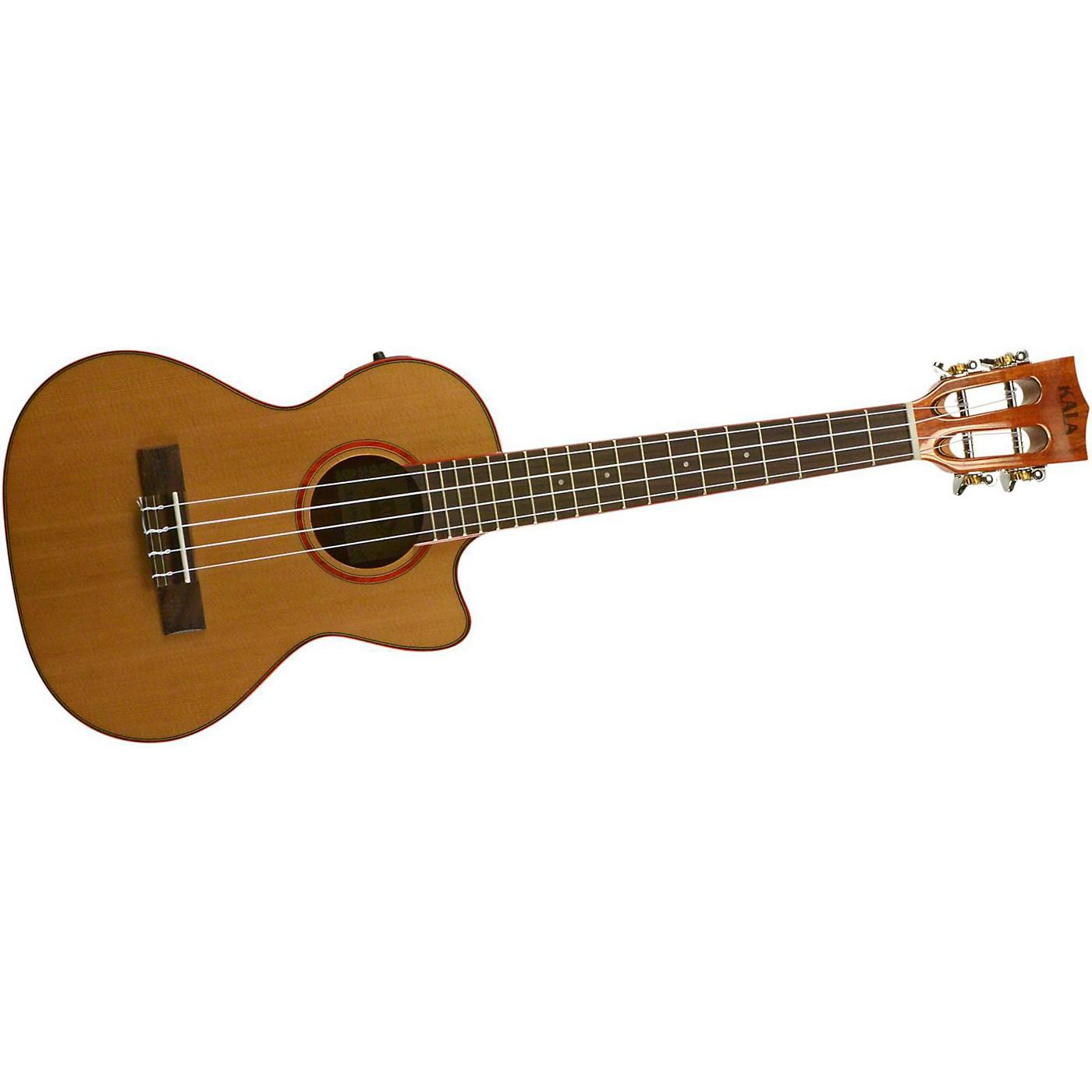 Kala Cedar Top Cutaway Acoustic-Electric Tenor Ukulele thumbnail