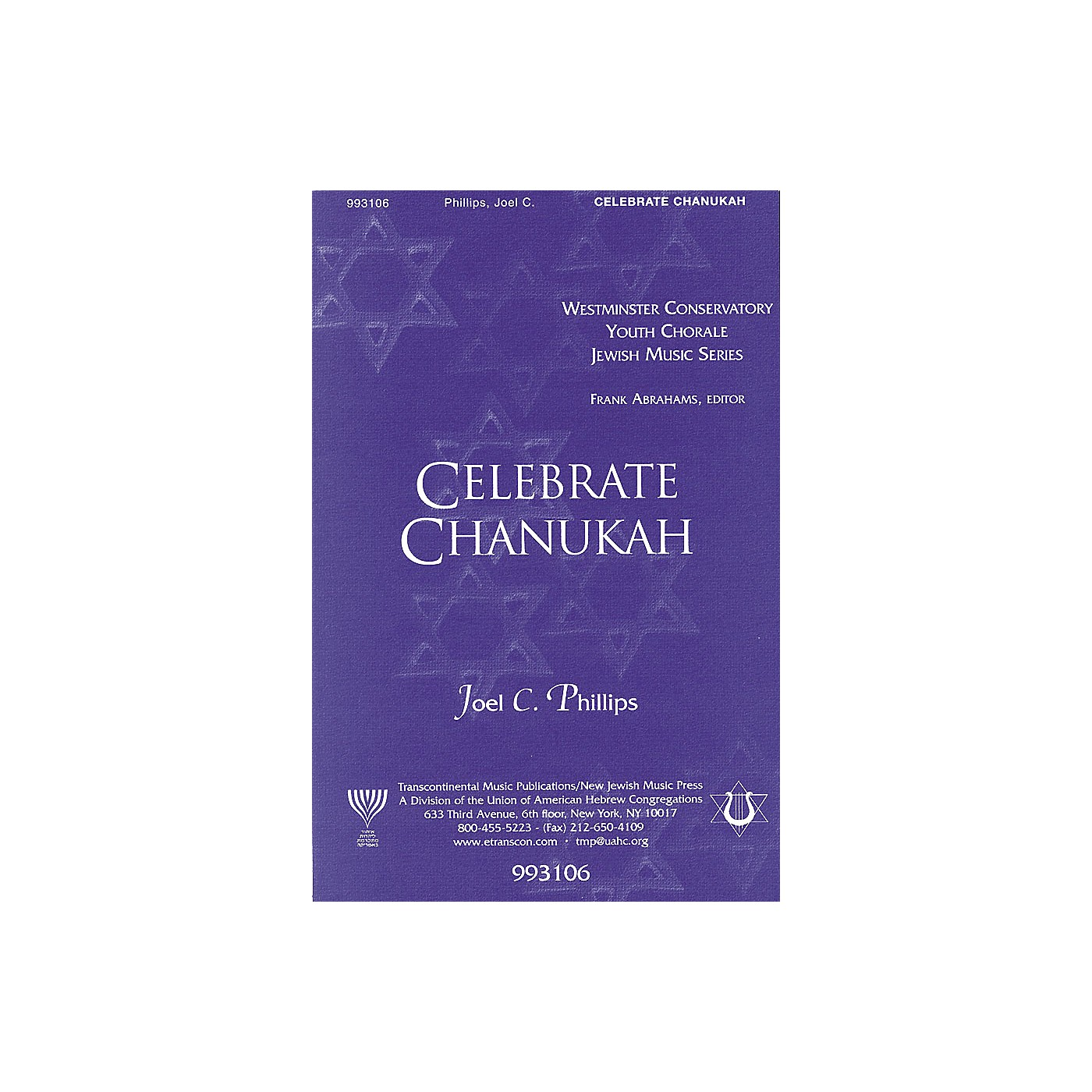 Transcontinental Music Celebrate Chanukah SATB composed by Joel Phillips thumbnail
