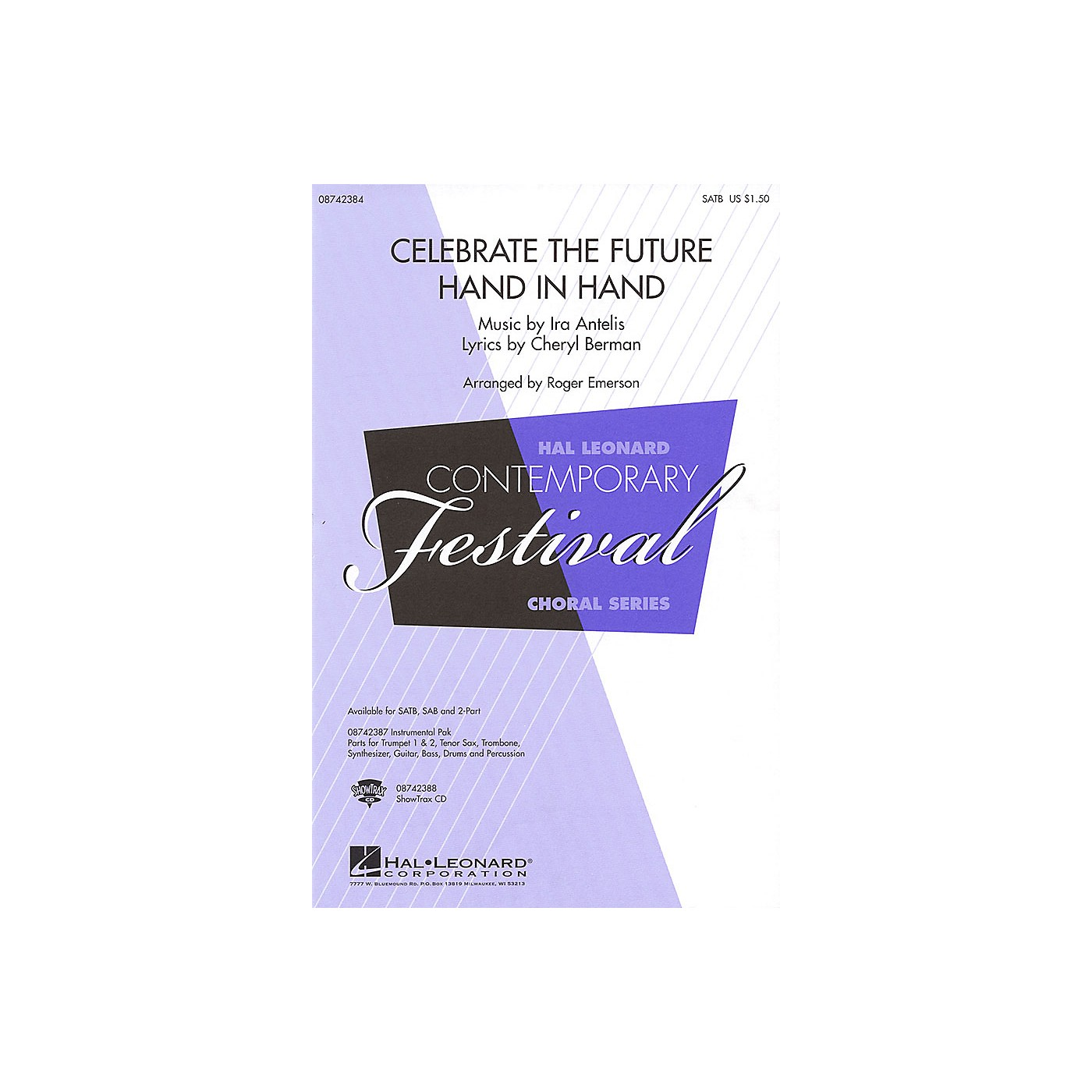 Hal Leonard Celebrate the Future Hand in Hand SAB Arranged by Roger Emerson thumbnail