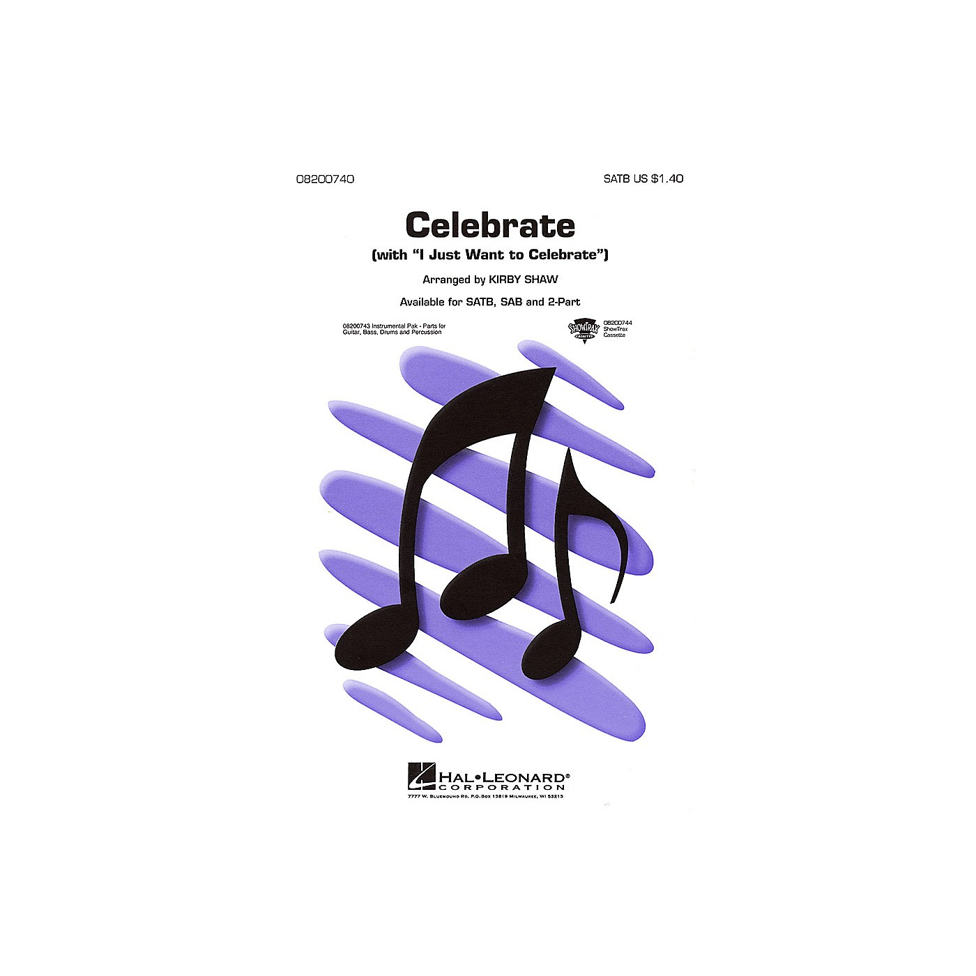 Hal Leonard Celebrate (with I Just Want to Celebrate) IPAKR Arranged by Kirby Shaw thumbnail