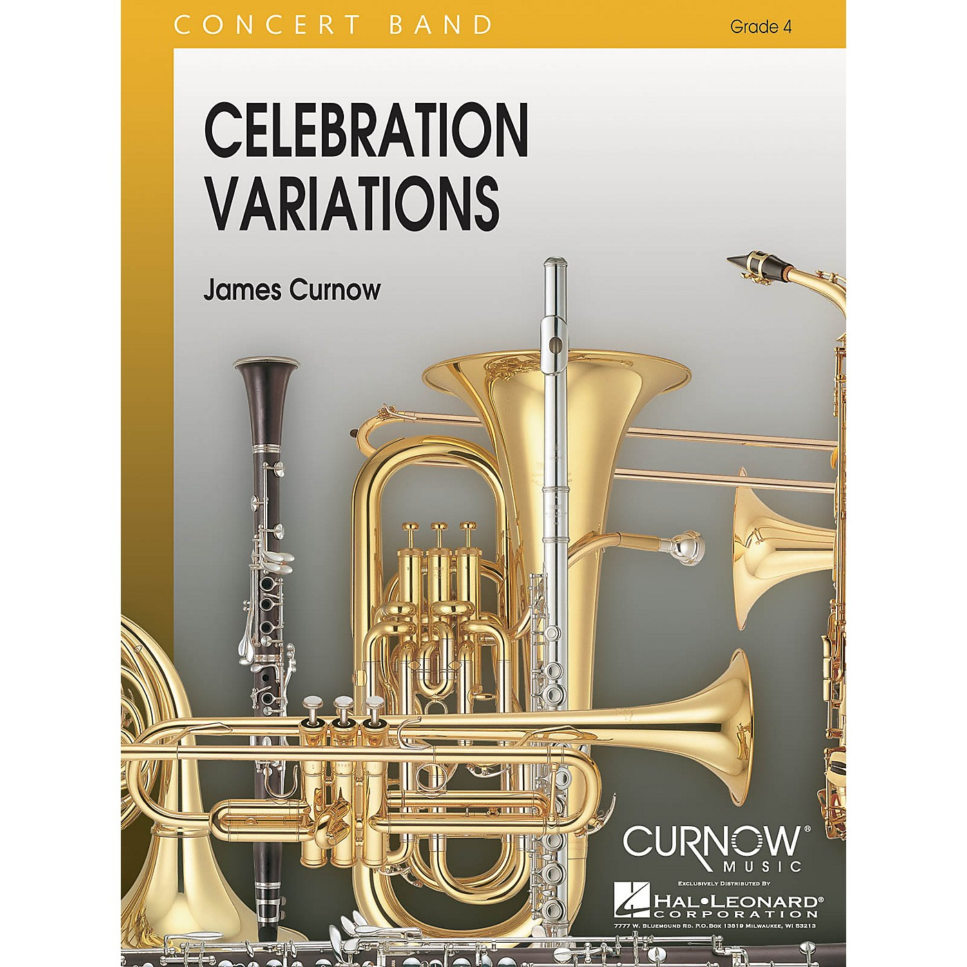 Curnow Music Celebration Variations (Grade 4 - Score and Parts) Concert Band Level 4 Composed by James Curnow thumbnail