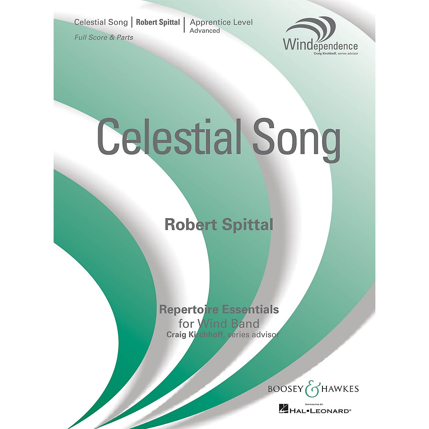 Boosey and Hawkes Celestial Song (Score Only) Concert Band Level 3 Composed by Robert Spittal thumbnail