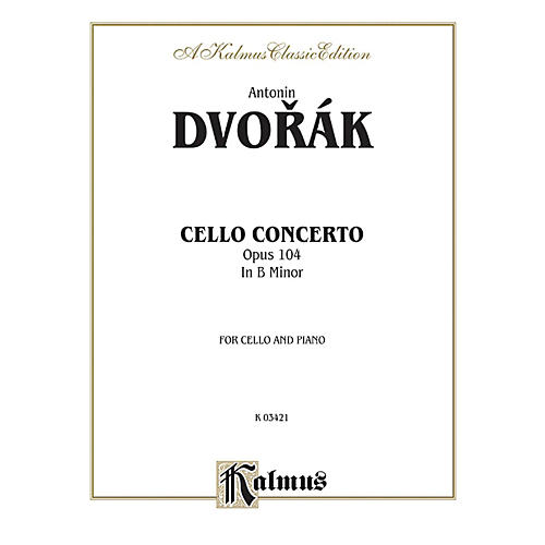 Alfred Cello Concerto Op. 104 for Cello By Antonin Dvor¡k Book thumbnail