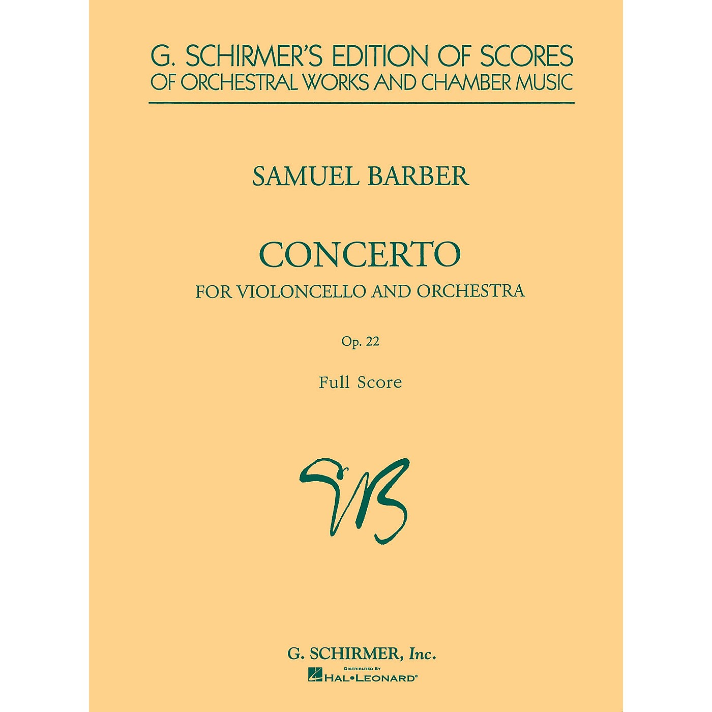 G. Schirmer Cello Concerto, Op. 22 (Study Score) Study Score Series Composed by Samuel Barber thumbnail