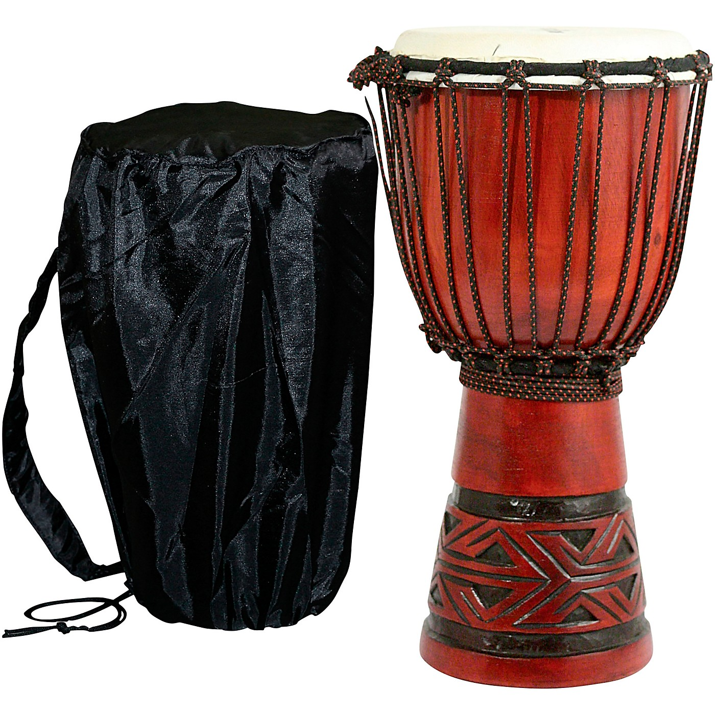 X8 Drums Celtic Labyrinth Djembe Drum thumbnail