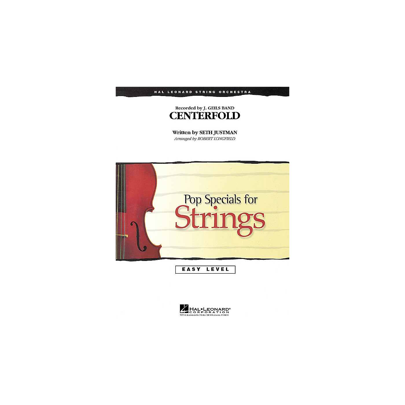 Hal Leonard Centerfold Easy Pop Specials For Strings Series by J. Geils Band Arranged by Robert Longfield thumbnail