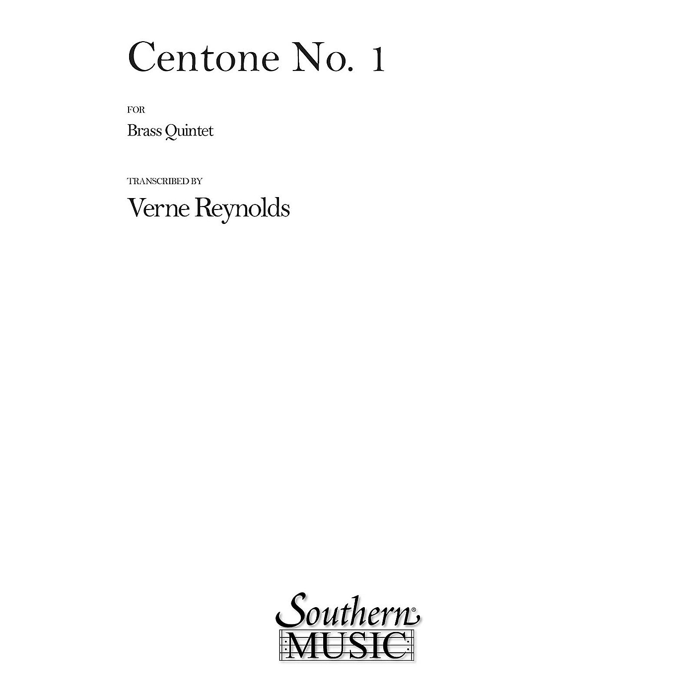 Southern Centone No. 1 (Brass Quintet) Southern Music Series Arranged by Verne Reynolds thumbnail