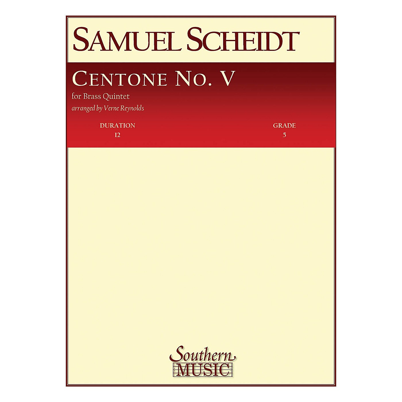 Southern Centone No. 5 (Brass Quintet) Southern Music Series Arranged by Verne Reynolds thumbnail