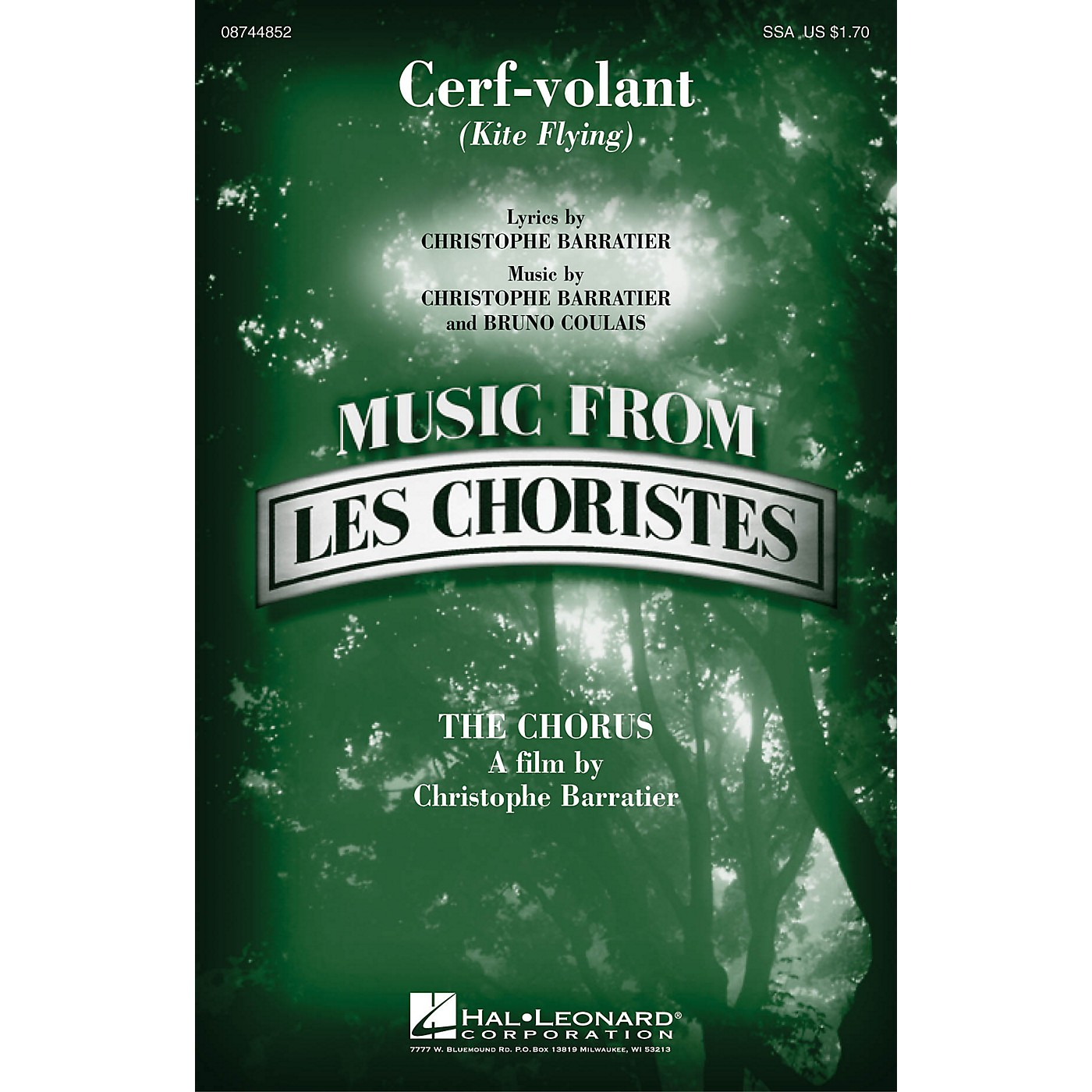 Hal Leonard Cerf-volant (Kite Flying) (from Les Choristes (The Chorus)) SSA composed by Bruno Coulais thumbnail
