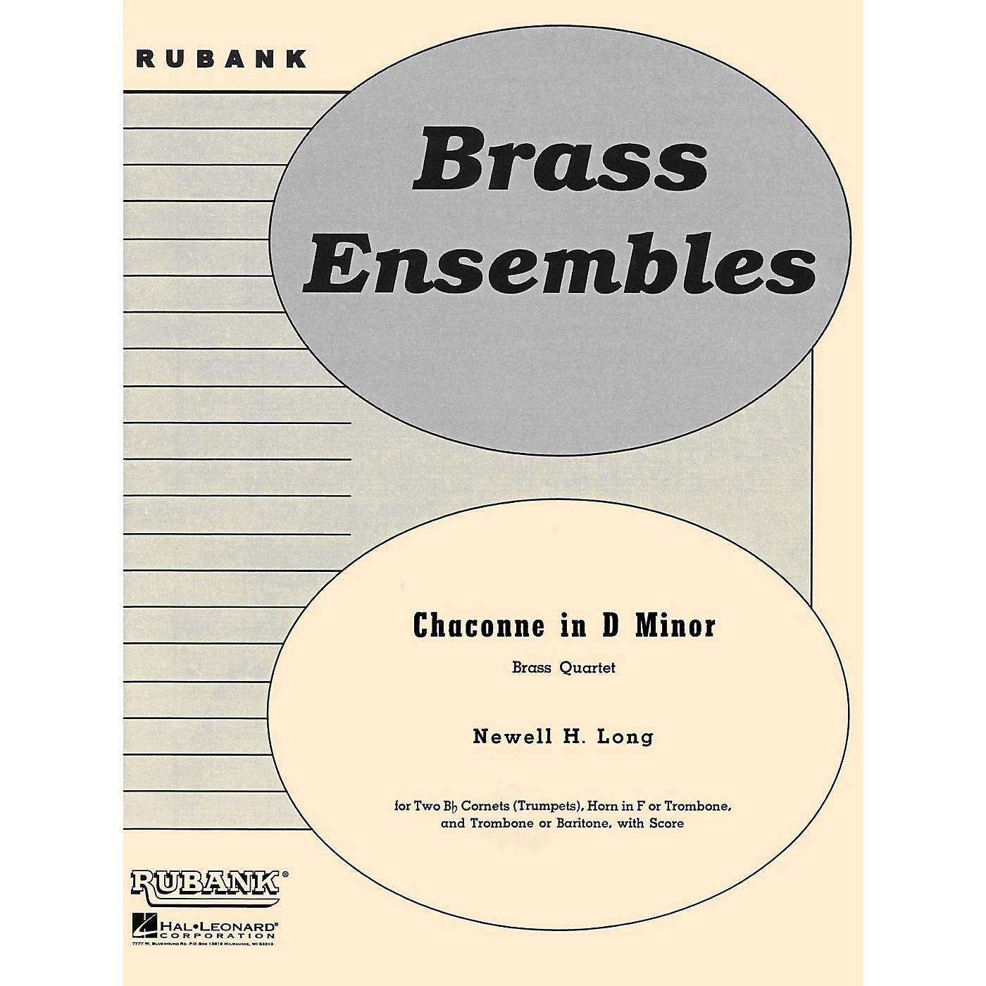 Rubank Publications Chaconne in D Minor (Brass Quartet - Grade 4) Rubank Solo/Ensemble Sheet Series thumbnail