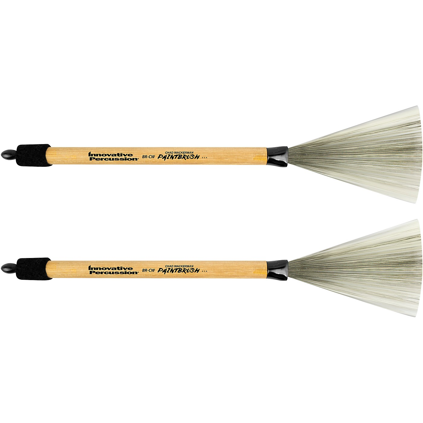 Innovative Percussion Chad Wackerman Paintbrush with Retractable Wood Handle thumbnail