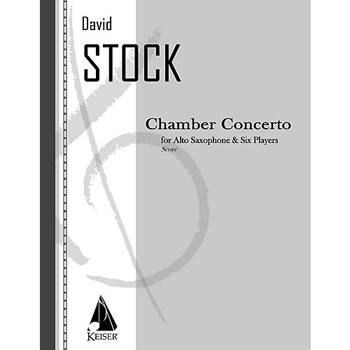 Lauren Keiser Music Publishing Chamber Concerto for Saxophone and Six Players - Full Score LKM Music Series Composed by David Stock thumbnail