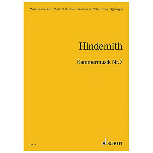 Schott Chamber Music No. 7, Op. 46, No. 2 (Study Score) Schott Series Composed by Paul Hindemith thumbnail