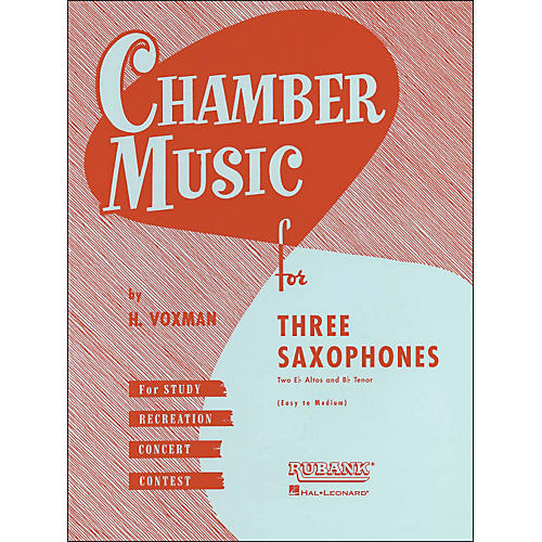 Hal Leonard Chamber Music Series Three Saxophones Two Altos And Tenor - Easy To Medium thumbnail