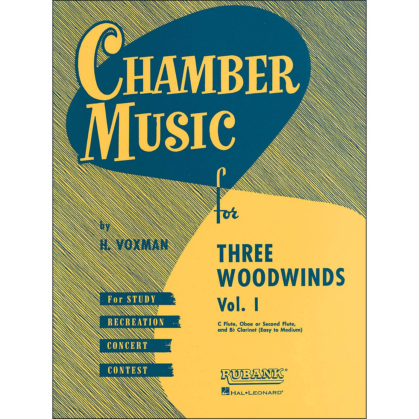 Hal Leonard Chamber Music Series for Three Woodwinds, Vol. 1 Flute, Oboe Or 2nd Flute, And Clarinet thumbnail