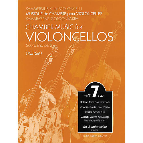 Editio Musica Budapest Chamber Music for 3 Violoncellos - Volume 7 EMB Series Composed by Various Arranged by Pejtsik thumbnail