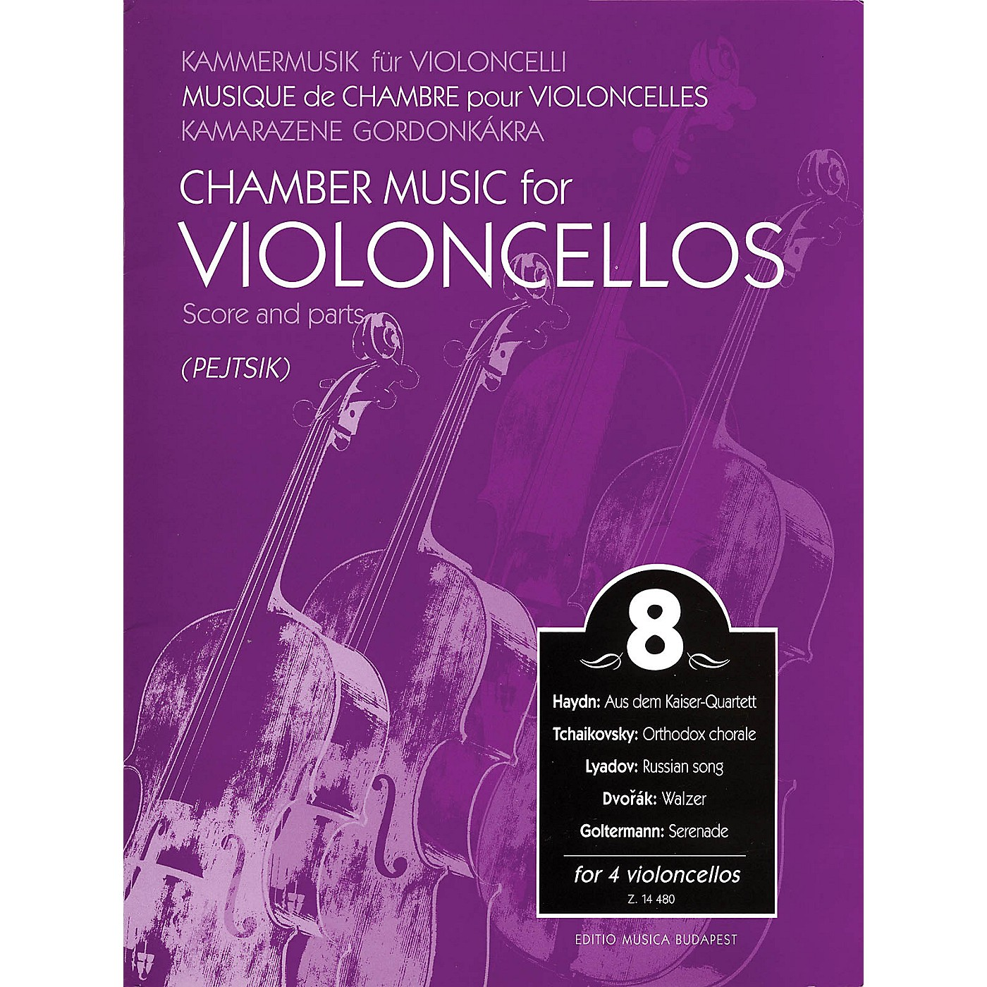 Editio Musica Budapest Chamber Music for 4 Violoncellos - Volume 8 EMB Series Composed by Various Arranged by Pejtsik thumbnail