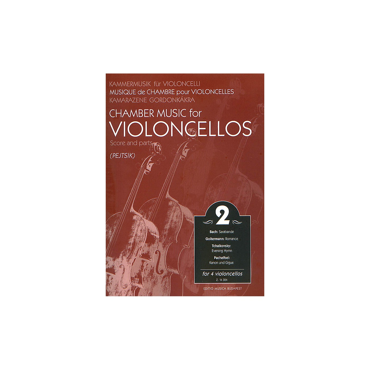 Editio Musica Budapest Chamber Music for Four Violoncellos - Volume 2 EMB Series thumbnail