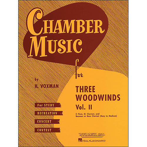 Hal Leonard Chamber Music for Three Woodwinds Vol. 2 Easy To Medium Flute/Clarinet/Bassoon/Or Bass Clarinet thumbnail