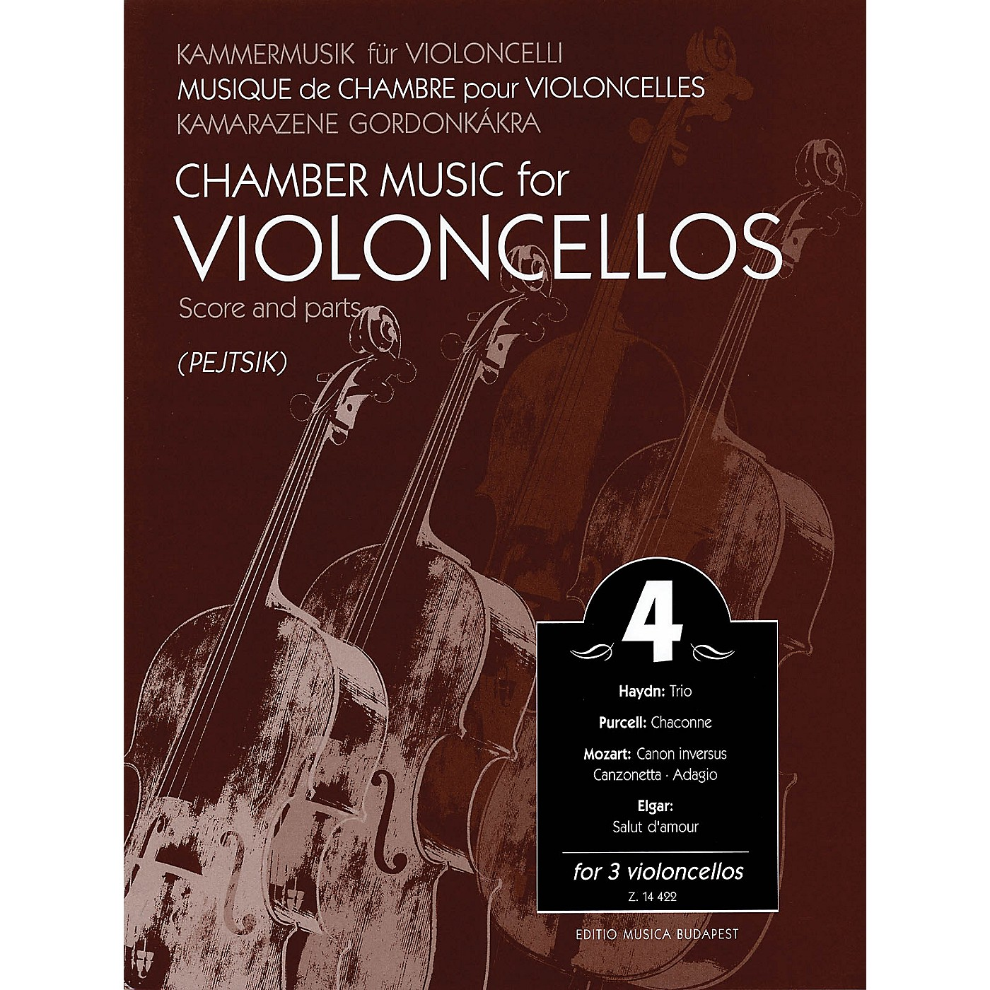 Editio Musica Budapest Chamber Music for Violoncellos - Volume 4 (3 Violoncellos Score and Parts) EMB Series Composed by Various thumbnail