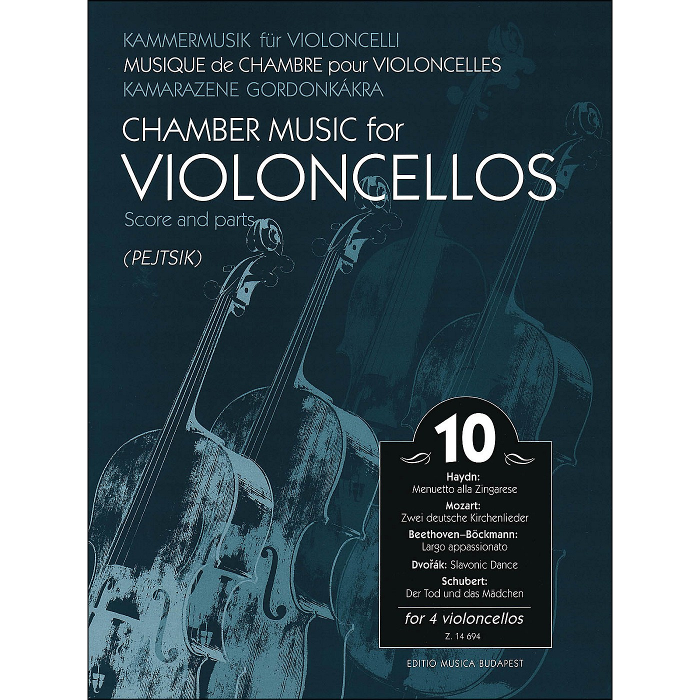 Editio Musica Budapest Chamber Music for Violoncellos Volume 10 Score And Parts (for 4 Cellos) thumbnail
