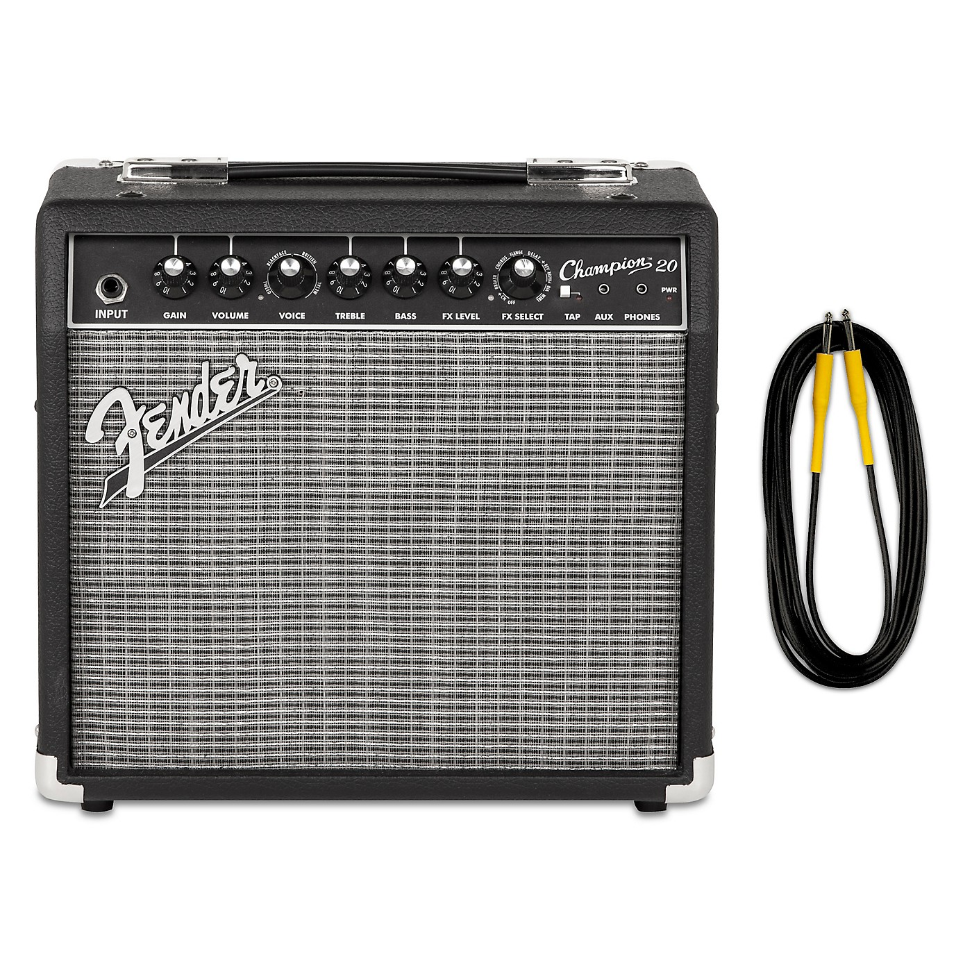 Fender Champion 20 Guitar Combo Amp with 20-Foot Instrument Cable thumbnail