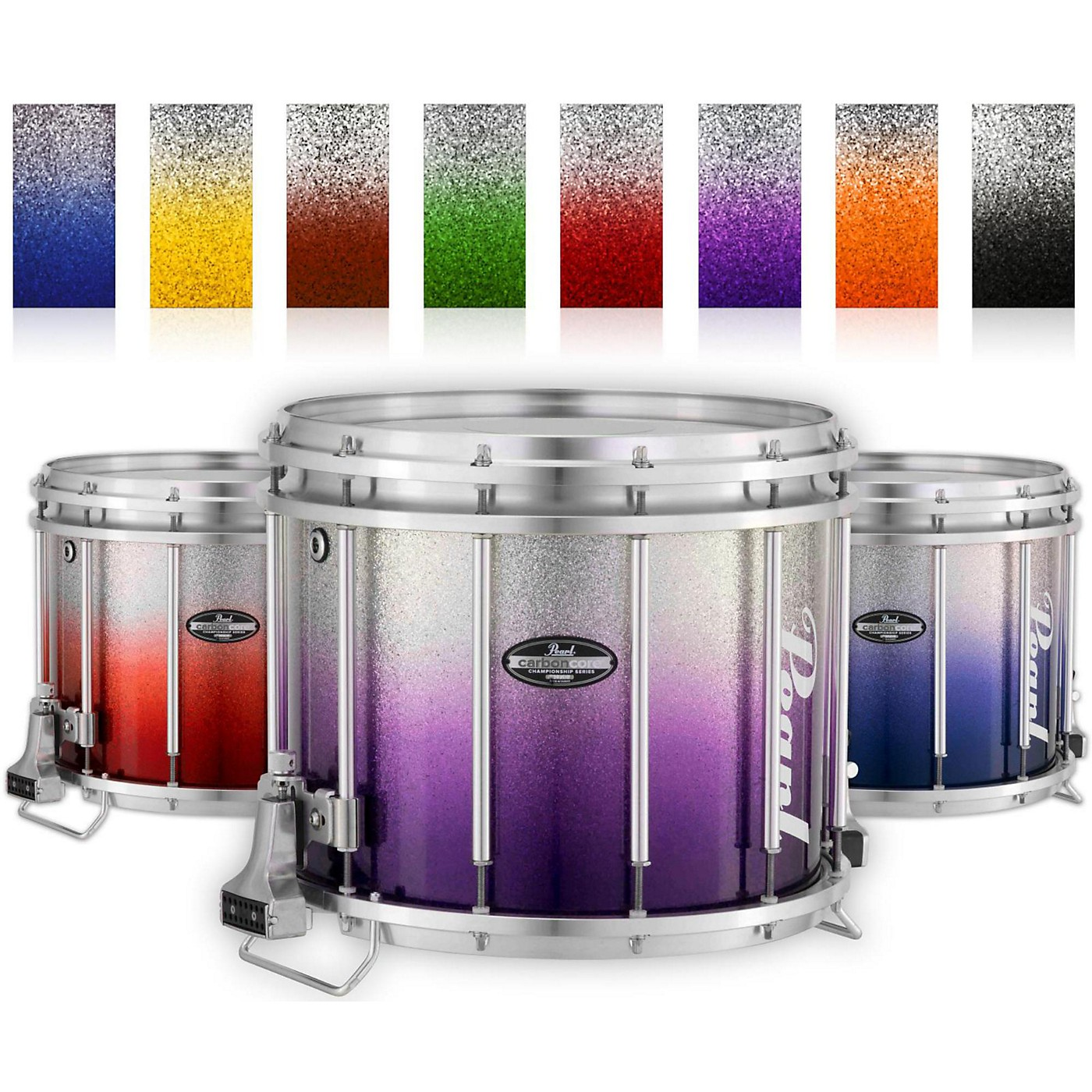 Pearl Championship CarbonCore Varsity FFX Marching Snare Drum Fade Bottom Finish thumbnail