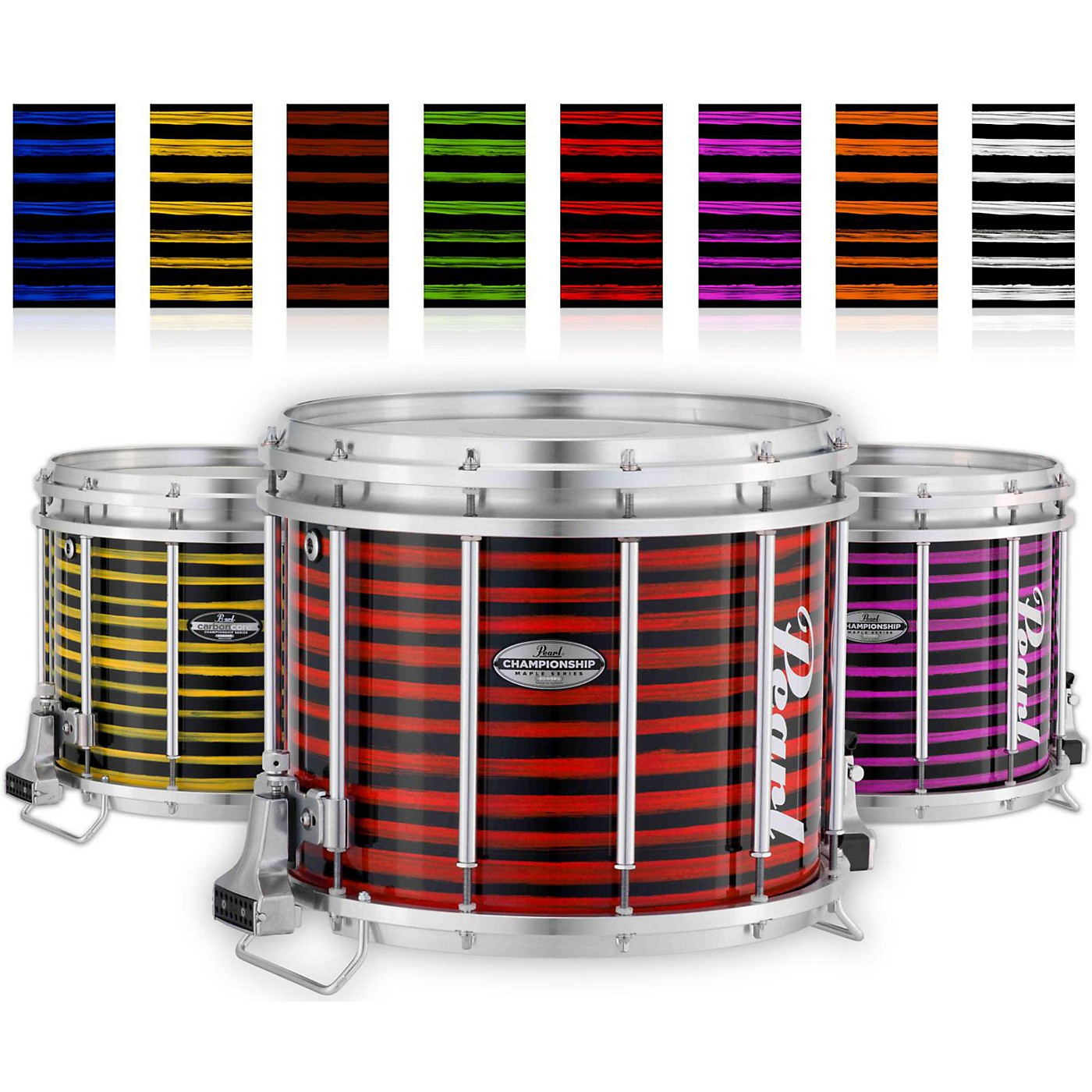 Pearl Championship Maple Varsity FFX Marching Snare Drum Spiral Finish thumbnail