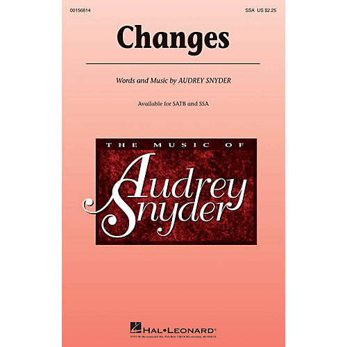 Hal Leonard Changes SSA composed by Audrey Snyder thumbnail