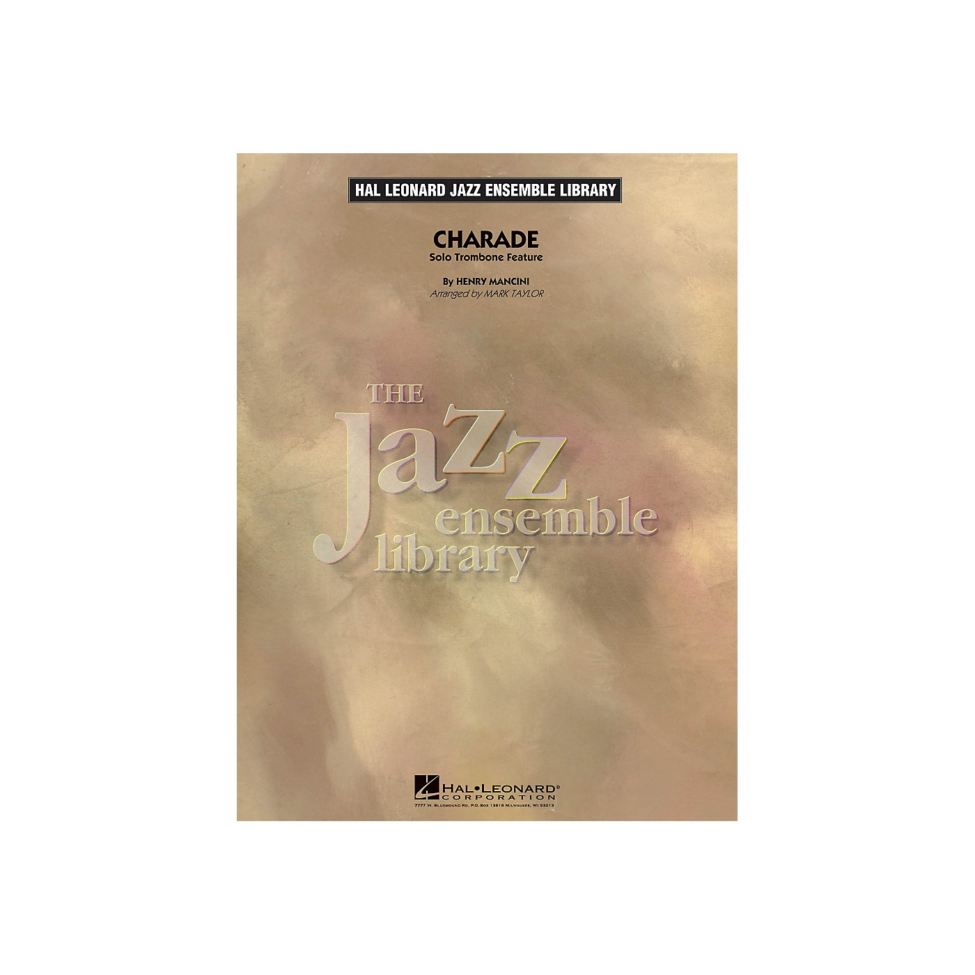 Hal Leonard Charade (Solo Trombone Feature) - The Jazz Essemble Library Series Level 4 thumbnail