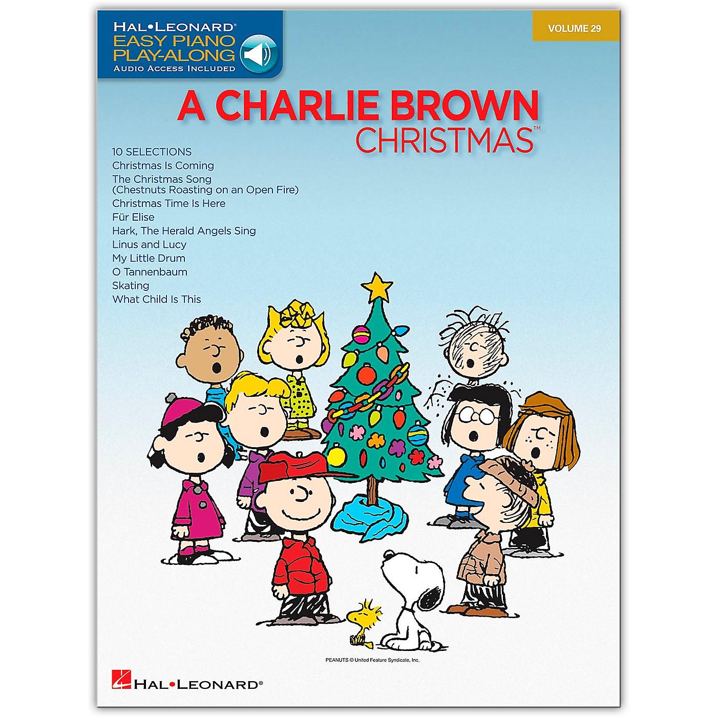 Hal Leonard Charlie Brown Christmas - Easy Piano Play-Along Volume 29 (Book/Online Audio) thumbnail