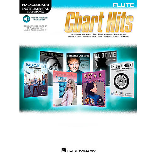 Hal Leonard Chart Hits For Flute - Instrumental Play-Along (Book/Online Audio) thumbnail
