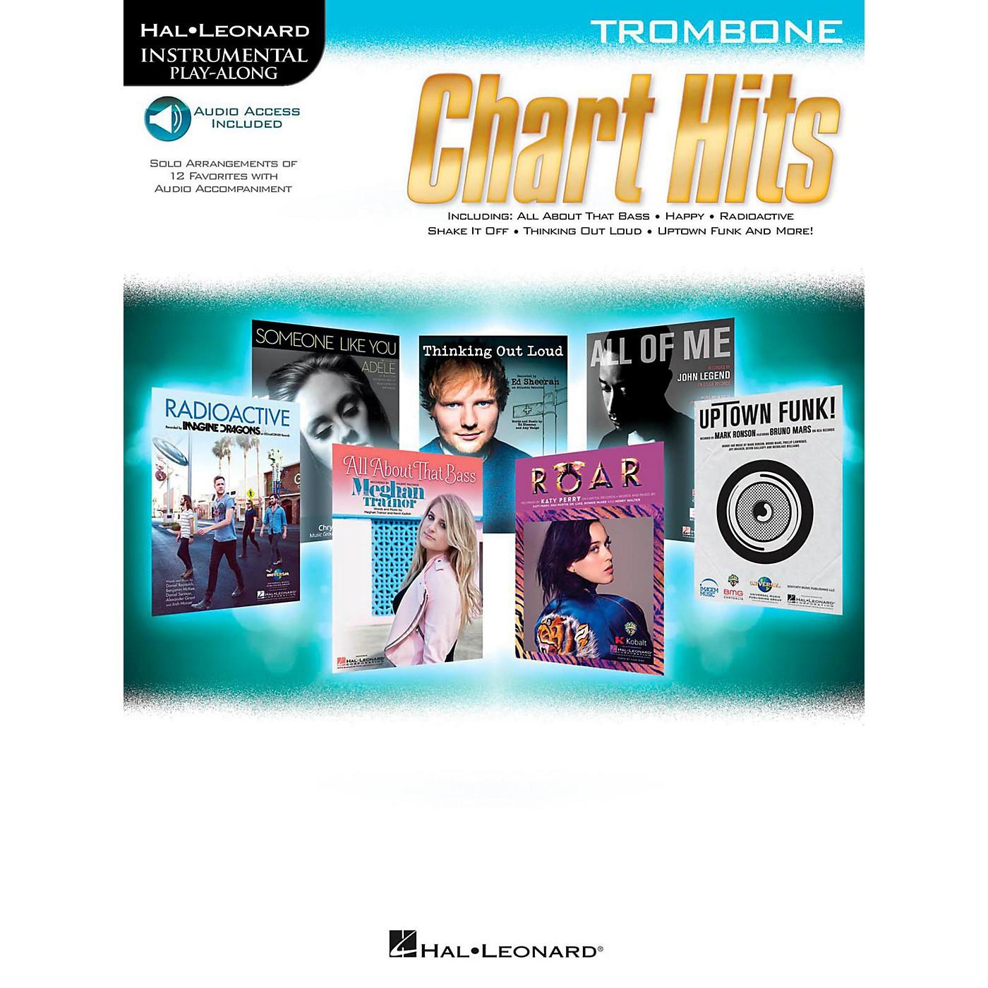 Hal Leonard Chart Hits For Trombone - Instrumental Play-Along (Book/Online Audio) thumbnail