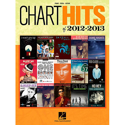 Hal Leonard Chart Hits of 2012-2013 Piano/Vocal/Guitar Songbook thumbnail