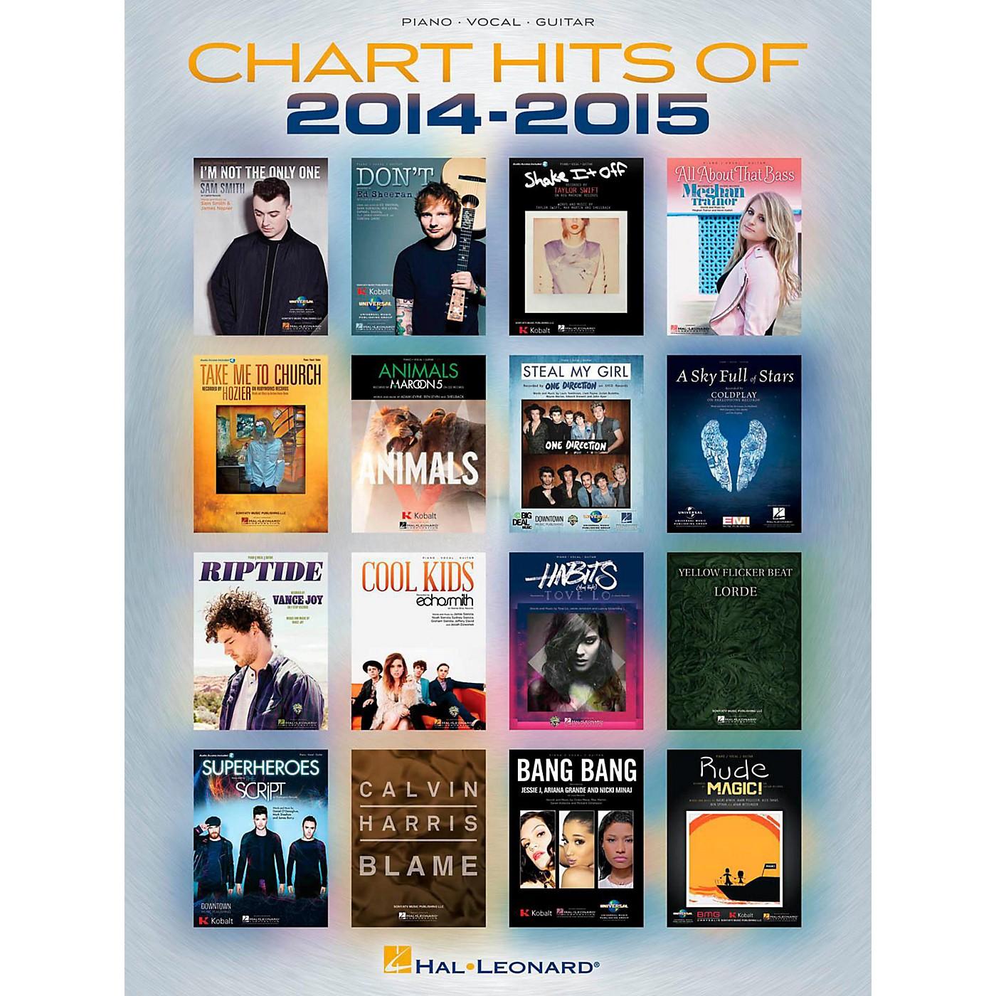 Hal Leonard Chart Hits of 2014-2015 Piano/Vocal/Guitar Songbook thumbnail