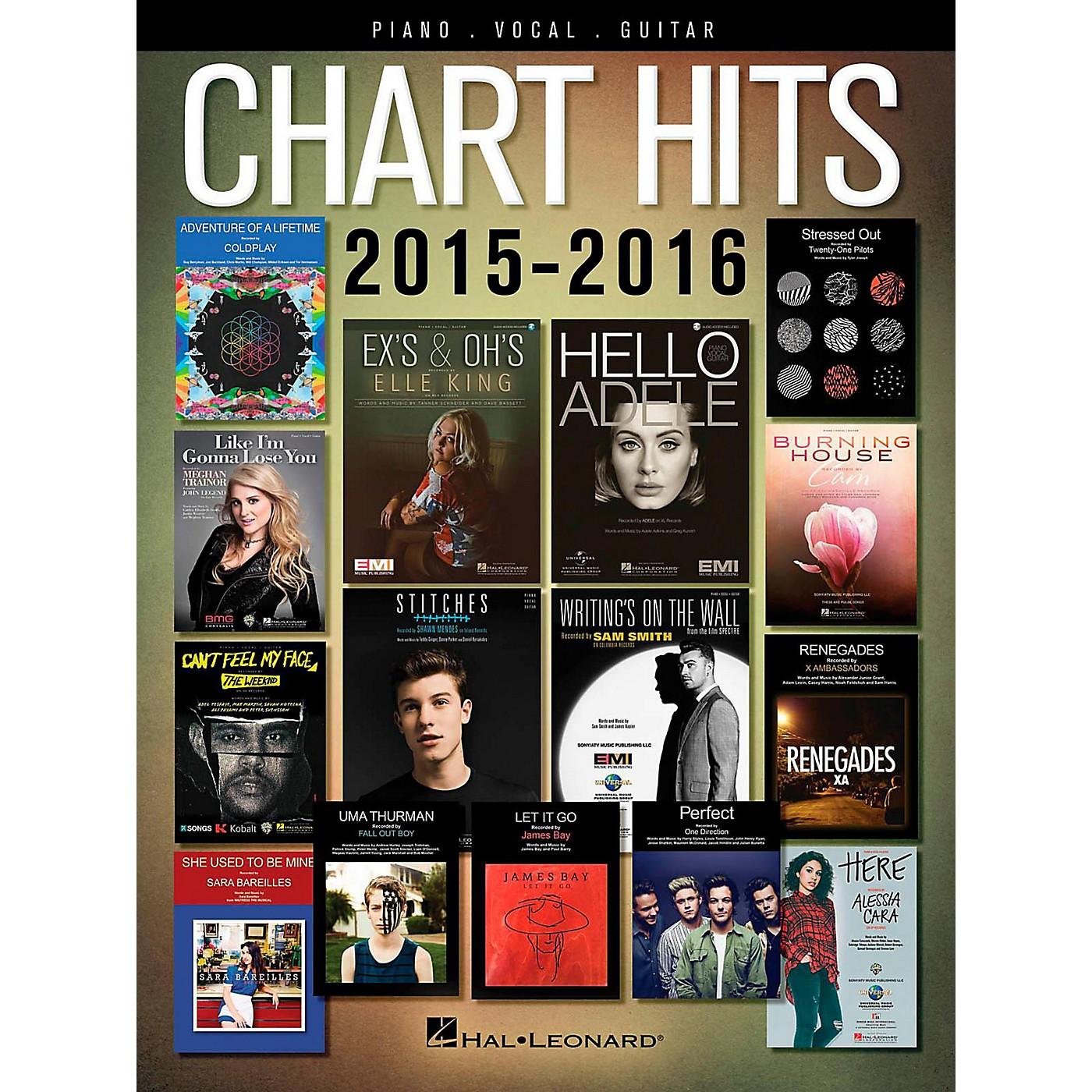 Hal Leonard Chart Hits of 2015-2016 for Piano/Vocal/Guitar thumbnail