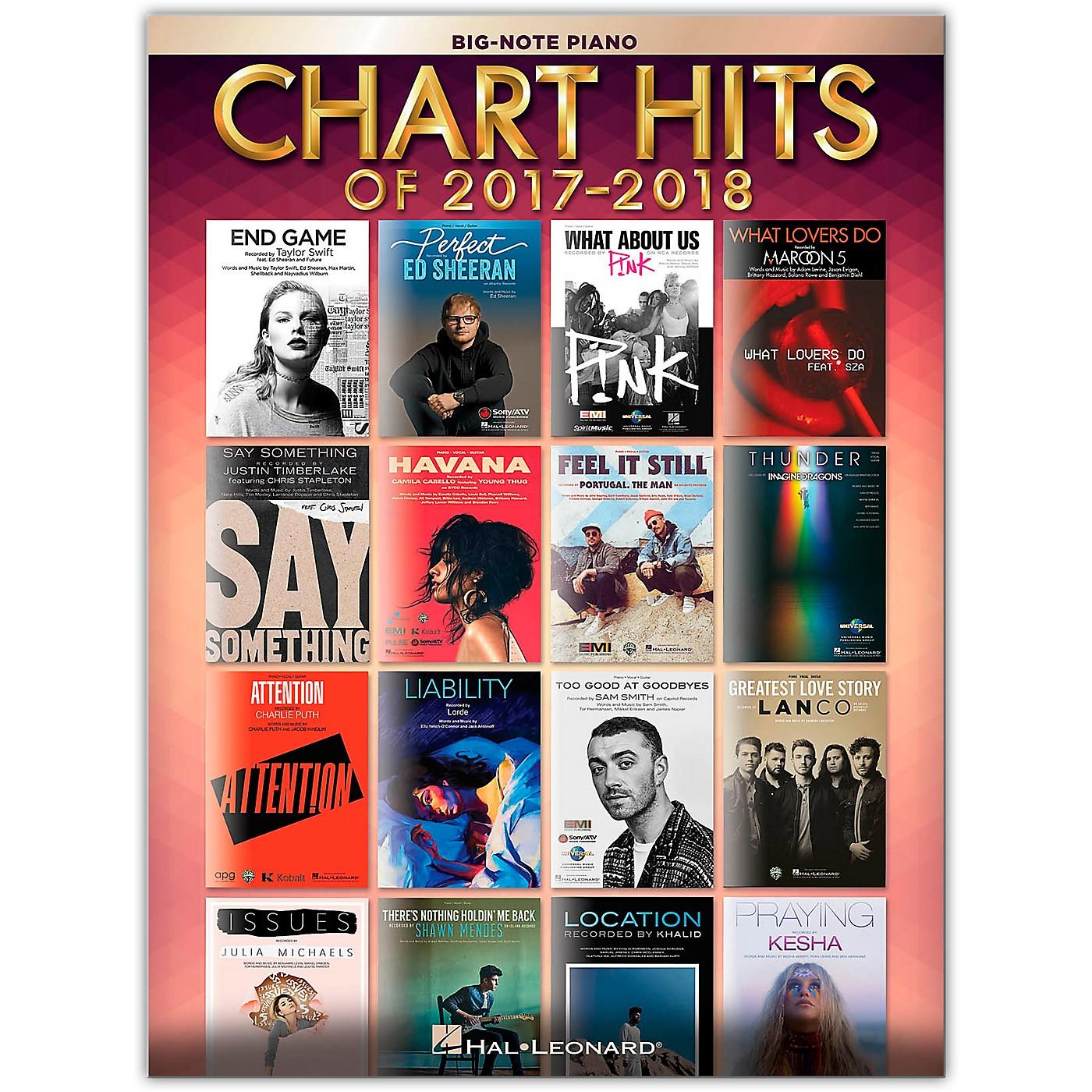 Hal Leonard Chart Hits of 2017-2018 for Big Note Piano thumbnail
